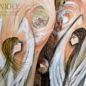 Anioły z Anielskiej Pracowni - Anioł Opieki i Anioł Troski są symbolami troski, wsparcia i opieki